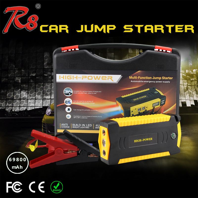 Portable Auto EPS Multi-functional Jump Starter Power Bank 69800mAh 12v 24v Booster For Gasoline Diesel Cars With Air Compressor