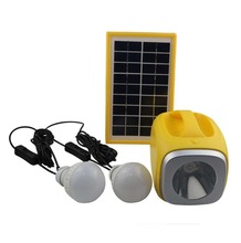 Hot sale in the HK fair 4.5W mini solar home system solar outdoor light kit
