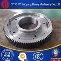 Customized casting and forging pinion gear for rotary kiln, for rotary dryer and for mill