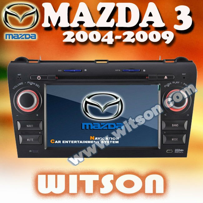 WITSON Mazda 3 touch screen car stereo with USB port and iPod ready