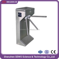 Security Gate Semi Automatic SS 304 Tripod Turnstiles with RFID Reader