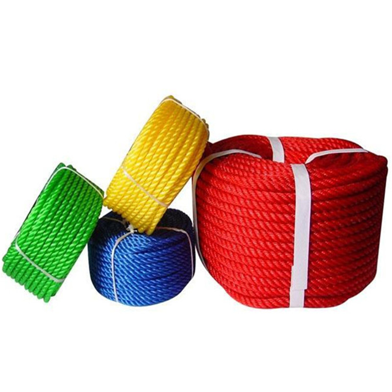 China Wholesale colorful 3 strand pp braided rope