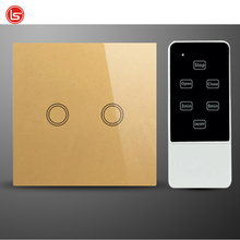 EU Standard 110-240V glass panel high sensitive touch wireless light switch touch switch remote control switch