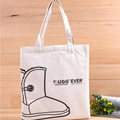 Custom thick standard size cotton canvas tote bag with zipper