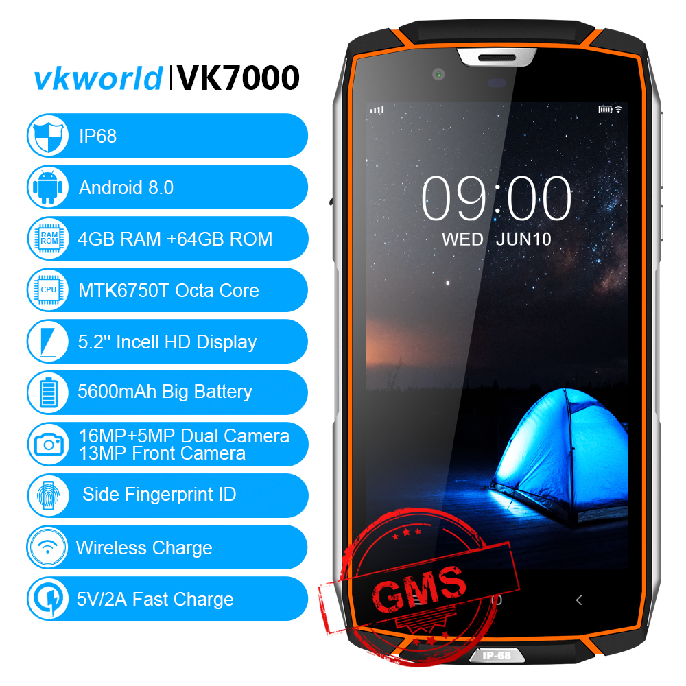 "VKWORLD VK7000 High Quality Lowest Price China New Original 5.2"" Custom Cheapest Telephone 4g 4G+64G Dual SIM Card Smartphone"