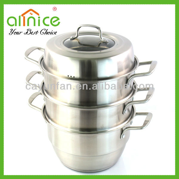 Muti use stainless steel cooking steamer/metal steamer cooker/steam pot