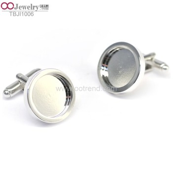 Classic design blank cufflinks for inlaid made of stainless steel 316L