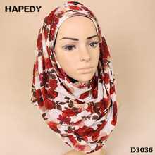 Long Floral Print Headscarf Women Wholesale Malaysia Muslim Sexy Jersey Scarves Instant Hot Arab Hijab