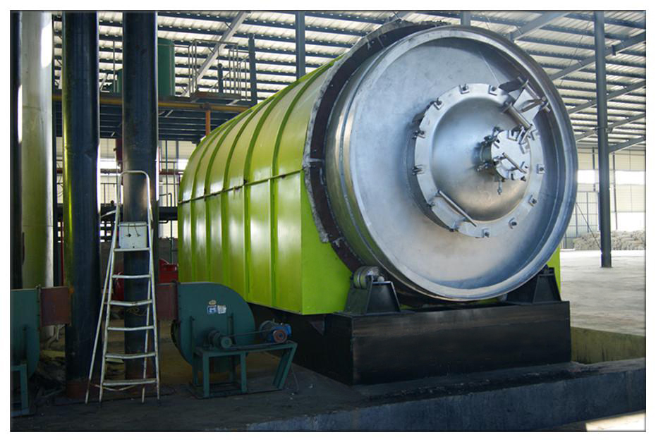 waste tyre/plastic recycling/pyrolysis plant/machine to industrial oil
