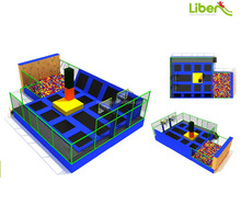 LiBen Best selling Indoor Large Trampoline Park with Basketball hoop and Foam Pit