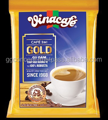Vinacafe Milk Instant coffee 3 in 1 gold dark box 20g / Wholesale Instant Coffee