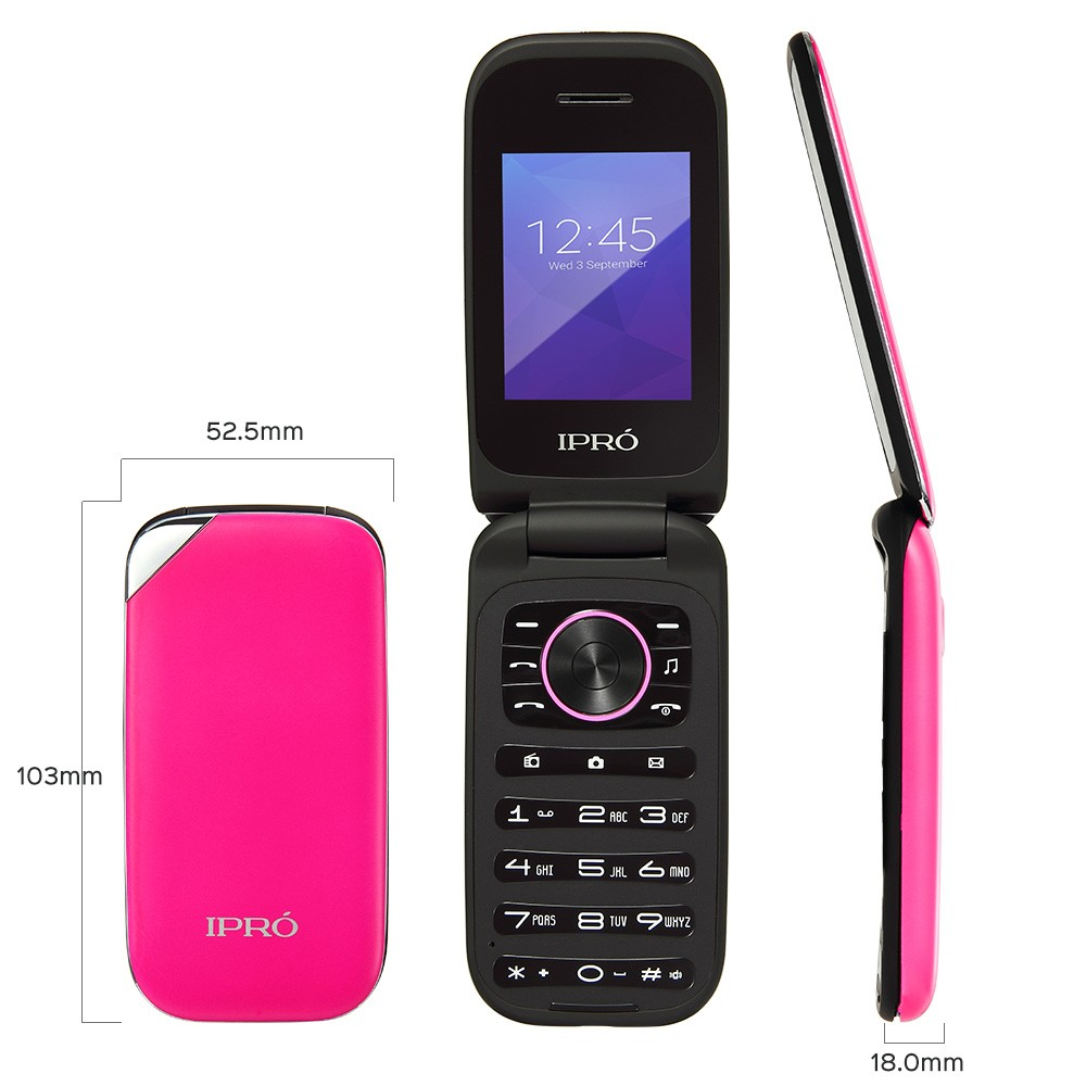 IPRO 2.4 inch cheap original stylish durable heavy big battery BL-5C 1000mah cheap flip feature phone mobile