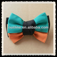 contrast color beautiful school girls hair bow accessories