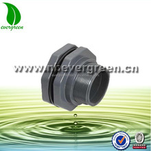 "4020 4"" PVC plastic bulkhead fitting for Aquarium"
