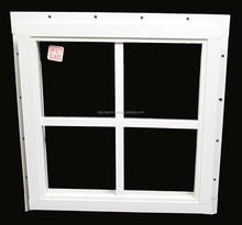 Square Shed Window All Aluminum Frame Painted White, Playhouse Window