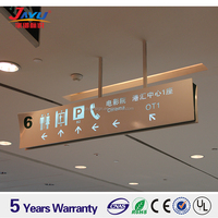 High quality customized hanging road sign subway direction led sign board