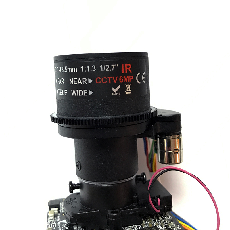 "H.265 (5.0MP) 6.0mp 2.7-13.5mm Motorized Zoom & Auto Focal LEN 1/3"" Omnivision Hi3516D + OV OS05A1 CCTV IP camera module board"
