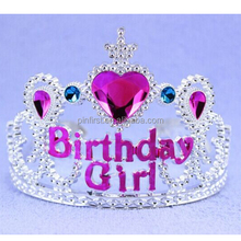 Wide Plastic-PVC Happy Birthday Tiara
