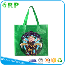 Superior quality promotional advertising handle pp woven europe tote shopping bags