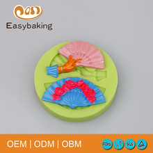 Fan shape silicone mold heel shoe for cake