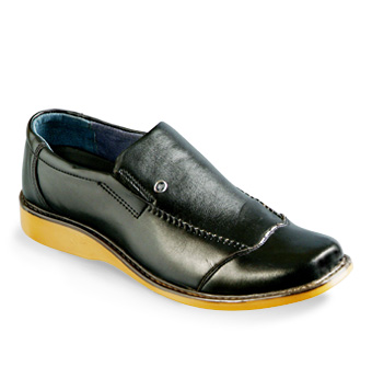 Broad Way Black Leather Gents Shoes
