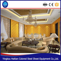 Modern Wall Art Decor PVC 3D Wall Covering Panels For House insulated interior wall panel