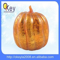 Hallowmas LED glass pumpkin Craft Desk Decoration