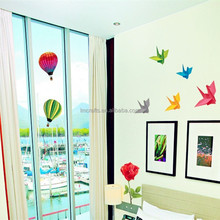 Home decor Wall Stickers Kids Bedroom Freezer Mural Decal Girls Boys Kid Cartoon Origami Balloon AY949