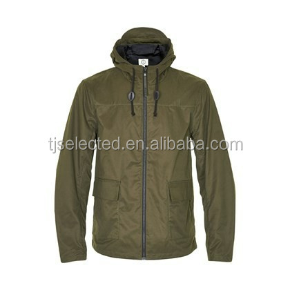 OEM Service for Men's hooded jacket 100% cotton canvas coated water proof