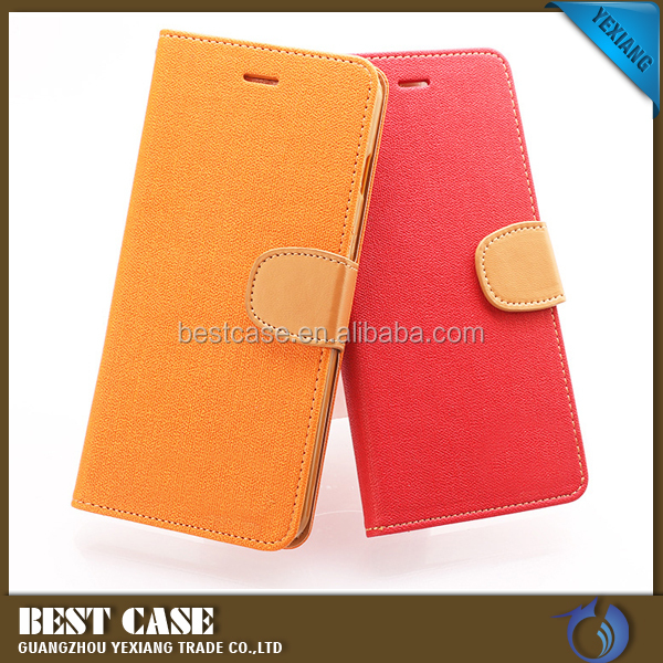 Jeans wallet leather case for Samsung Note 5, Korea constrast color back cover for Samsung Note 5