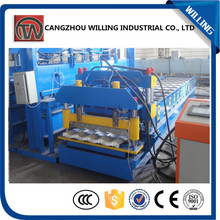 Hydraulic Press Roofing Use Tile Roll Forming Machine, Color Coated Metal Steel Step Tile Forming Making Machine