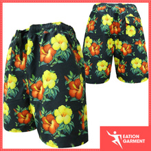 mens colorful crop waterproof swim trunks with pockets boardshorts