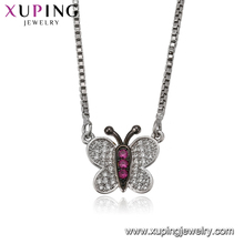 41931 Xuping butterfly sterling silver color necklace, imitation dubai gold jewellery designs