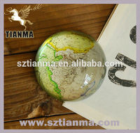 Novel World Map Globe Glass Ball Souvenir