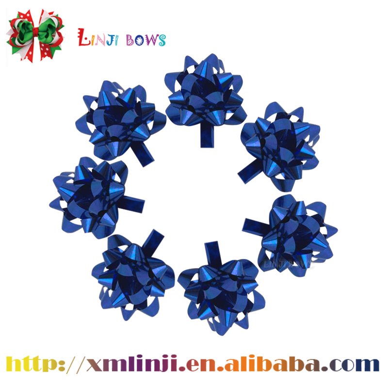 2016 Factory custom size plastic gift ribbon star bows