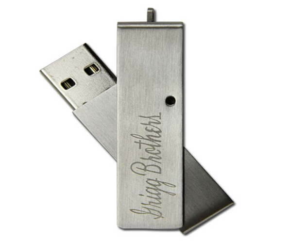promotional gifts blade metal swivel usb pen drive with custom logo