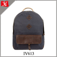 Shenzhen Manufacturer Durable Canvas Laptop Backpack School Bag