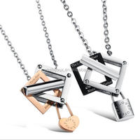 Locket Heart Stainless Steel Couples Necklaces