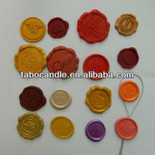 variety of colours sealing wax