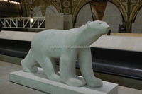 stone bear sculpture polar bear statue