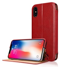 Wallet Case micro fiber Leather Premium Card Holder Book Design Stand Flip Protective Cover Case for Apple iPhone X