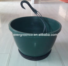 Plastic planters pot Hanging basket flower pot, green hanging flower pot