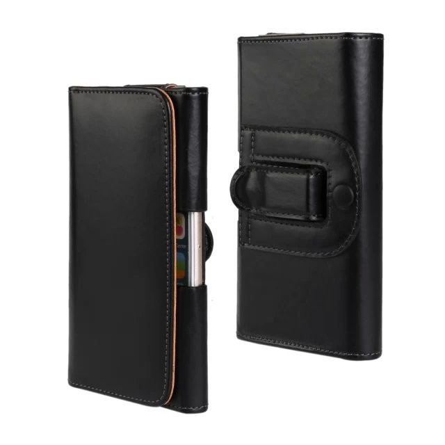PU Litchi Pattern Leather Belt Clip Holster For Apple iPhone Original Cell Phone Pouch Bag Case