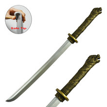 Top Selling Foam Japanese Sword Toy Realistic Swords with Gragon Handle