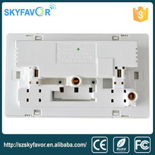 Universal 2 gang electrical outlet wall mounted power outlet socket USB wall switch and socket