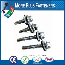Made in Taiwan manufacturer supply All Metal tek screws for roof