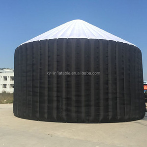 Outdoor air black inflatable dome building tent for car warehouse