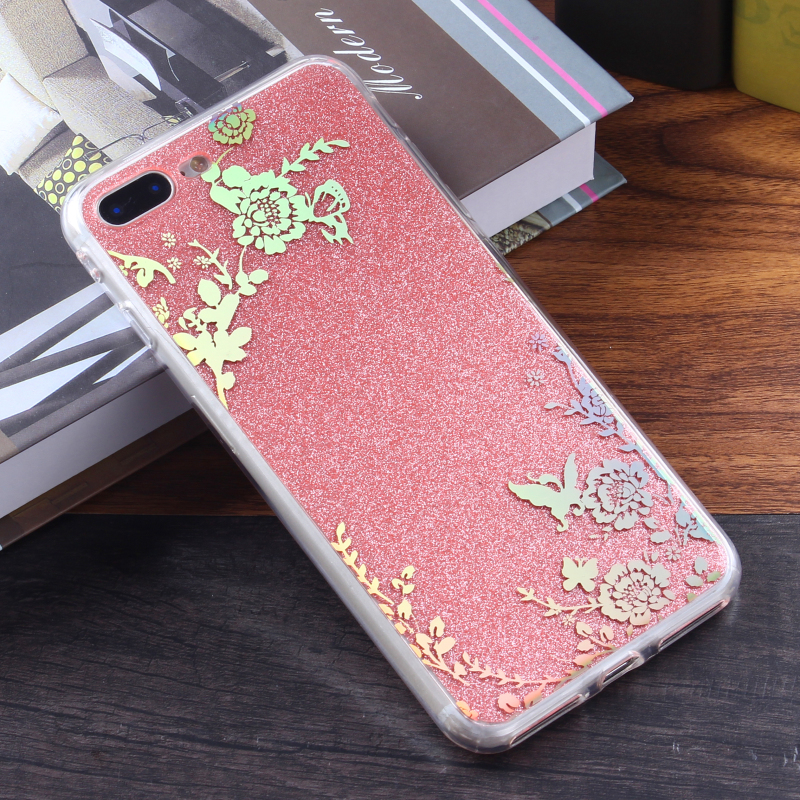 Large supply imd case shimmer flower accessories mobile phone glitter smart phone cover for Samsung galaxy note 8