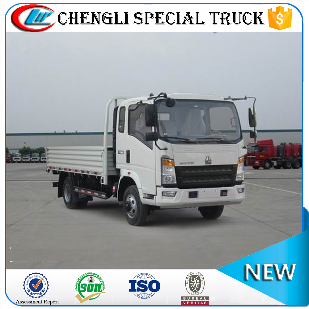 SINOTRUK HOWO 4x2 Light Duty Cargo Vehicle 3 Ton Lorry Truck Dimensions