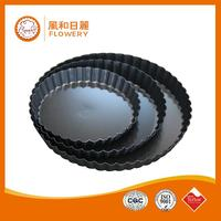 New design pie pan/small aluminium baking tray with great price
